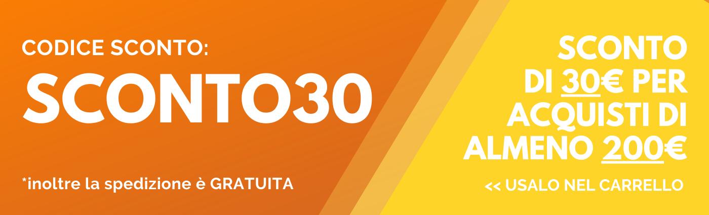 CODICE SCONTO 30